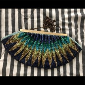 Vintage Style Sequined Clutch